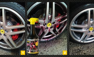 Ferrari rims as new with the Kenotek Wheel Cleaner